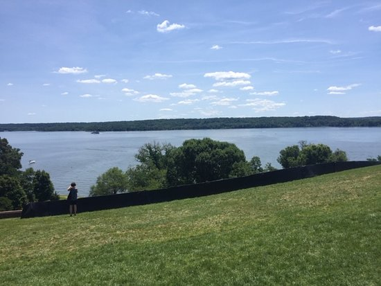 Mount Vernon Grounds Pass: View from back porch of Mount Vernon.  Area across the river is protected forest.  Purchased by the Women of Mount Vernon to protect the view.