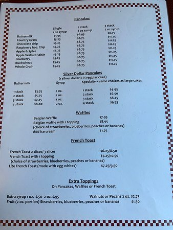 South Royalton, VT: Breakfast menu, page 3