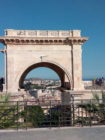 Cagliari, Italy: Particolare del Bastione
