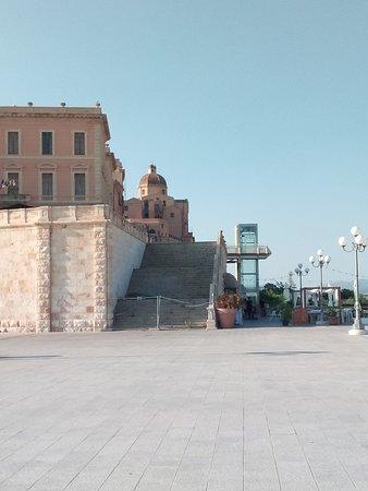 Cagliari, Italy: Scorcio del quartiere di Castello dalla terrazza del Bastione