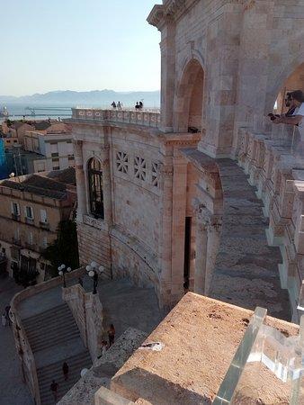 Cagliari, Italy: Particolare del Bastione visto dalla terrazza