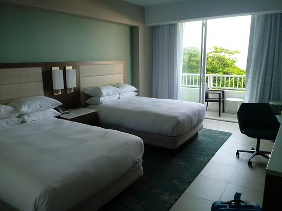 This room was clean, spacious and had a beautiful balcony.