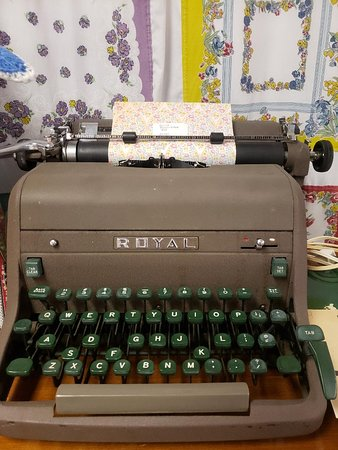 Vintage Royal typewriter. Maybe your first or next novel is waiting on you?