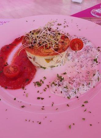 Gâteau de tomates et légumes