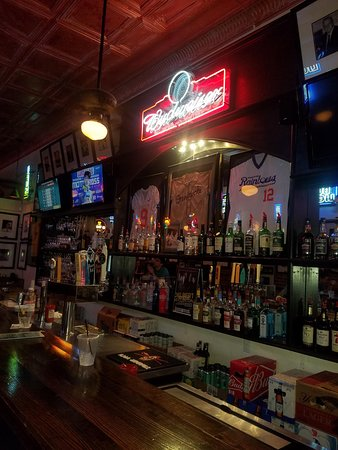 Well stocked bar at O'Grady's in Sumter