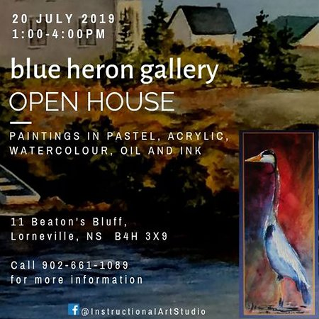 Blue Heron Gallery Annual Open House - July 20, 2019, 1:00 pm - 4 pm, 11 Beatons Bluff, Lorneville, Nova Scotia