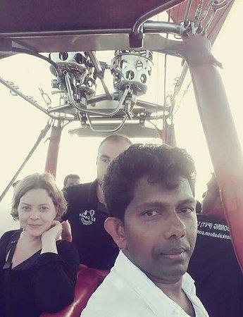 Ballon Ride with Nishaku lanka Holidays Travel agent Sri lanka