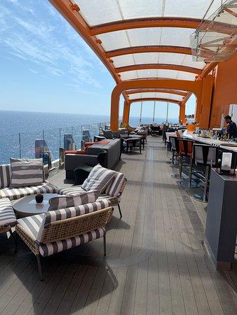 Celebrity Edge: Magic Carpet at sea