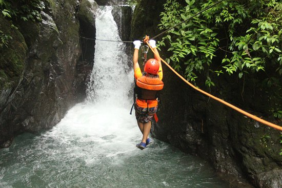 About to fall into the waterfall!