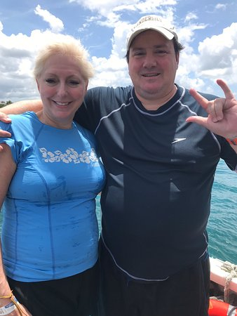 Fun onboard our dive and snorkeling trips with AlexScuba with diveguide extraordinary LOUISE