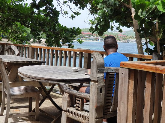 Gros Islet Quarter, Santa Lucía: view from the deck