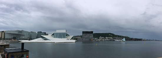 Panorama of the National Opera and the harbor