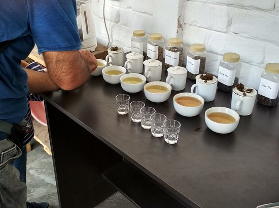 Wah Tea Estate: Tea samples from the factory, for tasting.