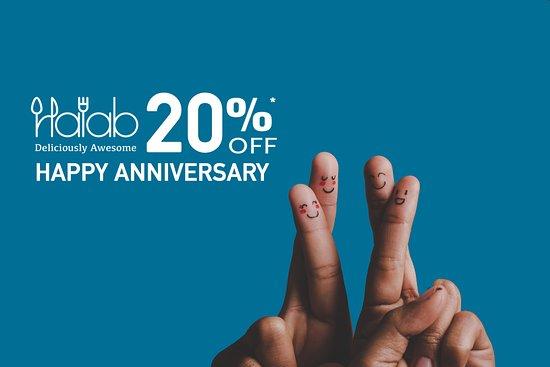 Halab KL: Today marks the 4th year of Halab KL #anniversary , come and celebrate with us and enjoy 20% off today . we love you all 🎉 💕  - 今天是Halab KL週年慶典的第四年,來和我們一起慶祝,今天享受八折優惠。 我們愛你們🎉💕 - اليوم نحتفل بمرور اربع سنين على افتتاح مطعم حلب كوالالمبور ، ندعوكم للاحتفال معنا والاستمتاع بخصم 20 ٪ . نحن نحبك جميعاً 🎉💕 -  https://buff.ly/2S8rzWT  #Food #Halab #Malaysia #Shawarma #Penang   #ِعربي #arabicFood #البيت_بيتك
