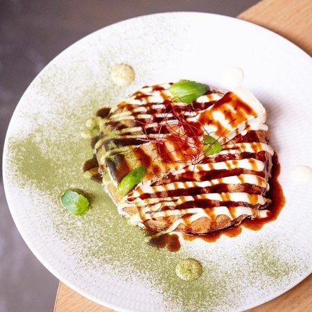 Okonomiyaki pizza japonesa de verdures