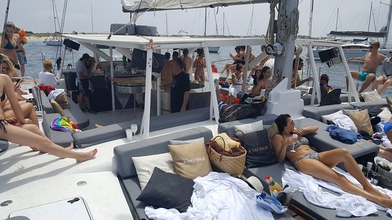 The bow of the boat with VIP beds
