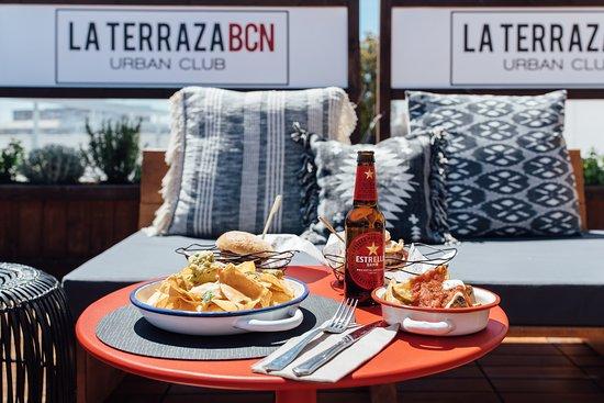 La Terraza Bcn Urban Club Barcelona Hostafrancs Menu