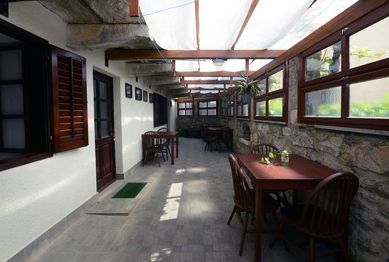 Matavun, Slovenia: There is a terrace and balcony in front of the apartments and it is also possible to use a loundry.