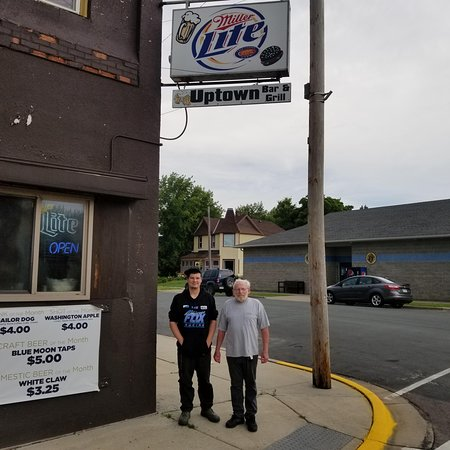 Waverly, MN: Outside the Uptown Bar & Grill in Wavery, MN.  Don't let the outside of the place fool you! The inside is fantastic!