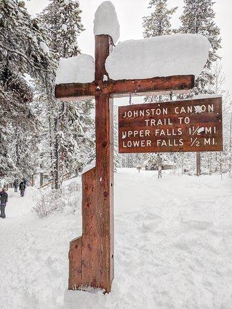 Johnston Canyon Icewalk: Sign.