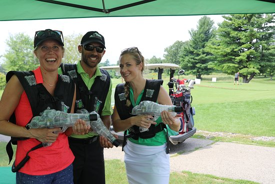Laser tag makes a great activity at a hole for golf tournaments!