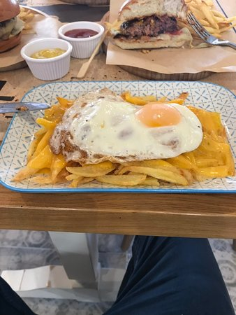 French Fries with cheddar cheese & eggs