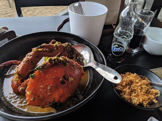 Crab Curry and Sambol