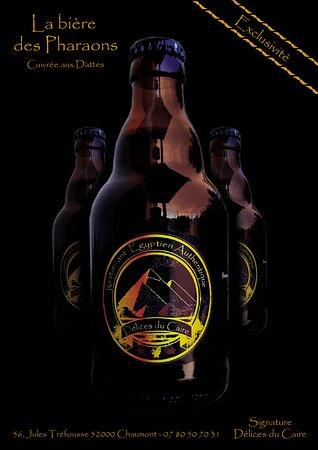 La bière des Pharaons est au Délices du Caire  Une bière unique et personnalisé sur mesure pour nous  Une tuerie