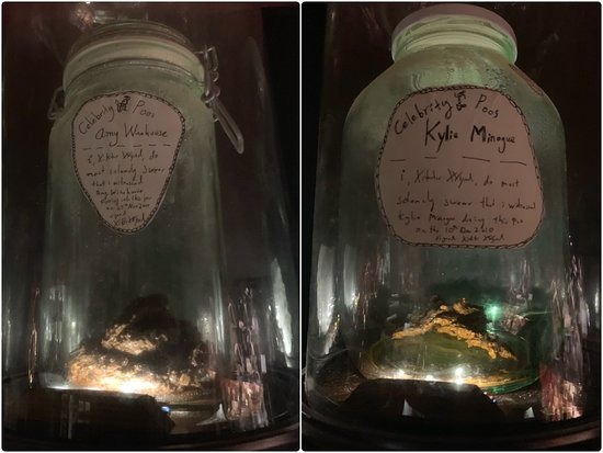 The Viktor Wynd Museum of Curiosities, Fine Art & Natural History:  Jars of ... well, read the signs!
