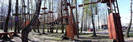 Tychy, โปแลนด์: Park linowy Paprocany - panorama