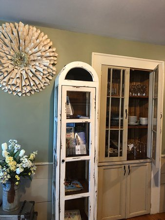 I loved the built-in cabinets throughout The Hann Homestead.
