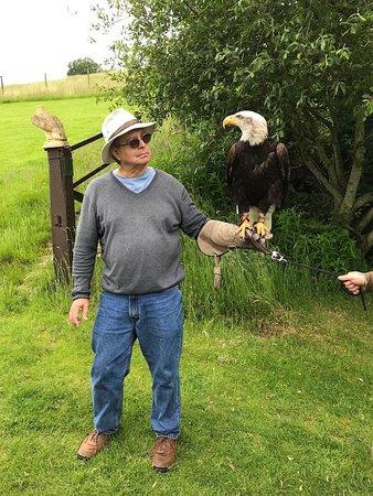 Me with a bald eagle