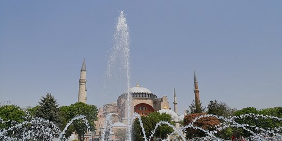 Hagia Sophia, once the Church of the Holy Wisdom, later converted into a Mosque and now used as a museum.
