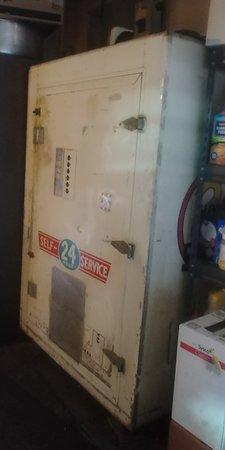 Empire, CO: Vintage milk fridge at Lewis Sweet Shop