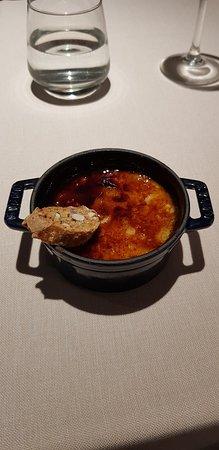 Restaurant Mar Brava by Park Hotel San Jorge: creme catalana met amandel biscuit