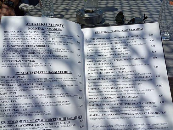 Very interesting menu!
