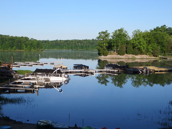 Creal Springs, IL: View of the lake from our deck