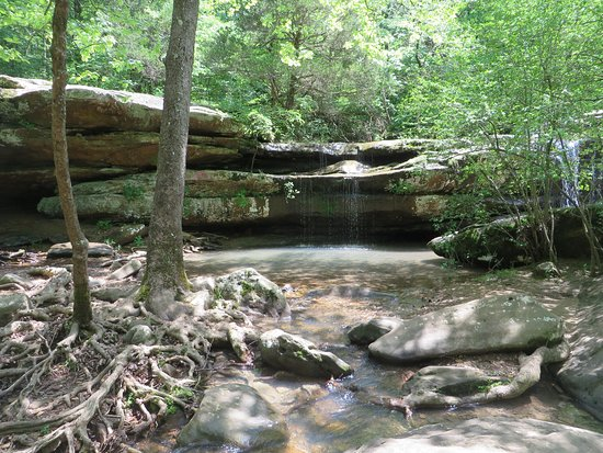 Creal Springs, IL: One of many waterfalls at the Shawnee National Forest