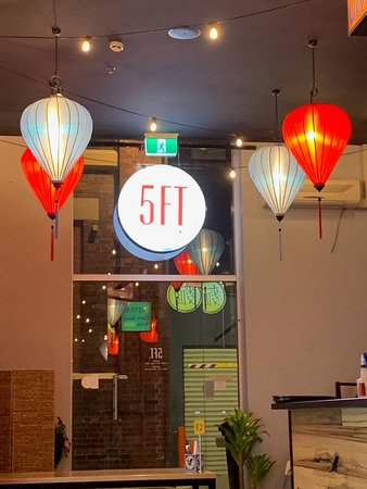 Five Feet Street Eats: the lanterns on  the inside