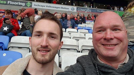 Bilde fra University of Bolton Stadium