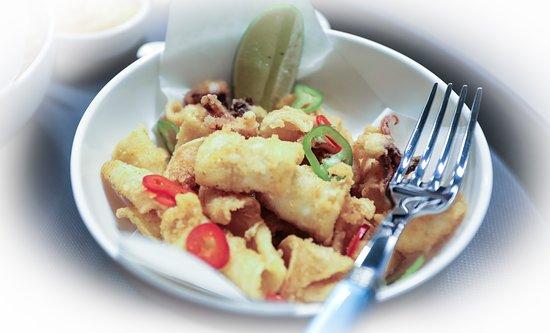 TUYA: Calamars Frits - Fried Calamari with Yuzo Mayonnaise