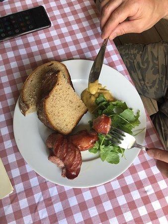 Краковская колбаска и свекольный супчик с пельмешками по-польски (варёное мясо) вкусно и необычно