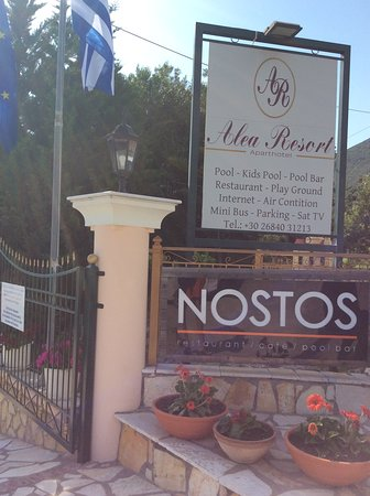 Parga, Greece: Alea Resort, Nostos Restaurant near Valtos Beach. Fab  place great food and wine  wonderful pool clean and warm and safe. Very friendly owners. See you next May and June. Jan from Leeds