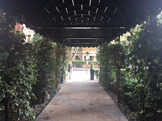 Entrance under renovation
