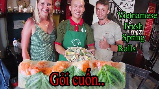 Duong Dong, Vietnam: How to make Vietnamese fresh spring rolls.