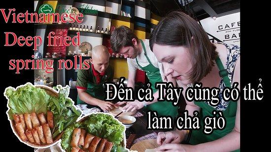 Duong Dong, Vietnam:  How to make Vietnamese deep fired spring rolls.