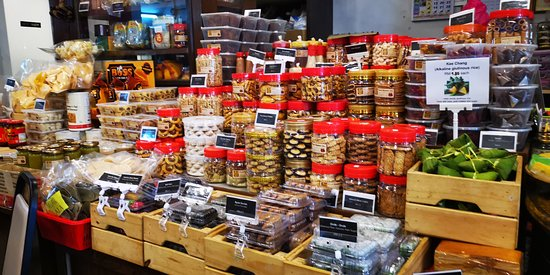 Snacks sold at counter area