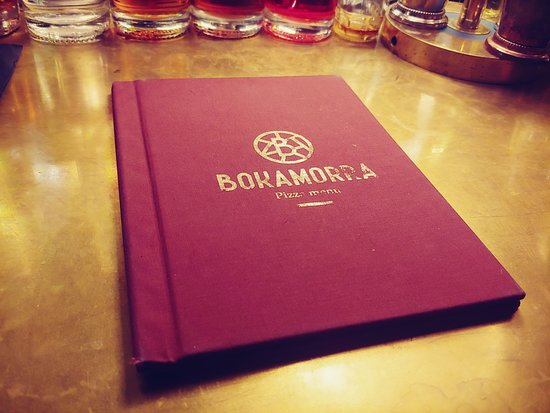 Bokamorra Pizzaurant & Cocktails: Front of the menu
