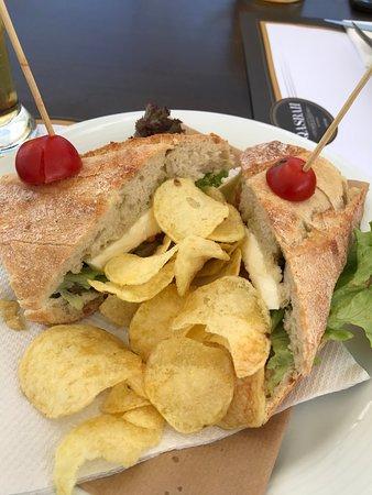 The Caprese rustic sandwich.