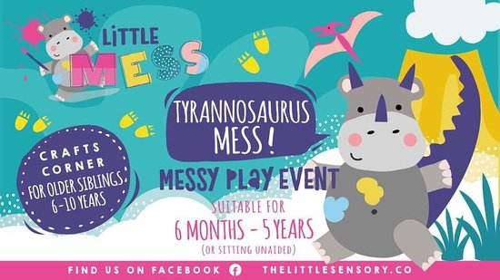 Check our website for latest dates for Messy Play
